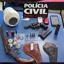 Idoso é preso com armas e munições em Sericita