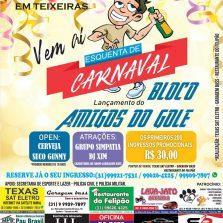 Teixeiras Amigos do Gole: Vem ai o esquenta do lançamento do melhor Bloco de Carnaval da Região