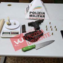 Arma furtada de ex-agente penitenciário em Viçosa, é apreendida em Governador Valadares