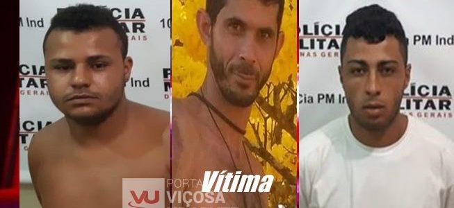 Presos suspeitos de homicídio no Córrego dos Barros