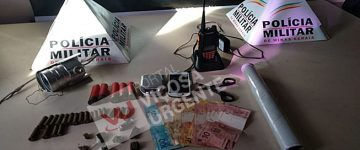 Suspeito é preso com drogas e munições de uso restrito no Santo Antônio