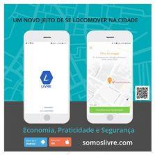 """Aplicativo """"Livre"""" chega com tarifas a partir de R$7,50 Nova opção de Mobilidade Urbana com segurança e custo benefício"""