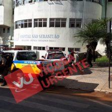 Dois baleados na porta do hospital São Sebastião em Viçosa