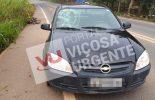 Viçosa/Teixeiras, Acidente na rodovia Br120 deixa idoso ferido.