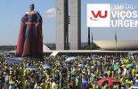 Milhares de pessoas vão às ruas em apoio ao presidente Bolsonaro