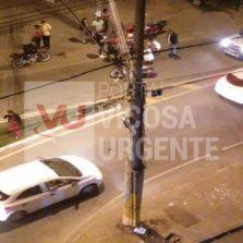 Colisão na Castelo Branco deixa motoqueiro ferido