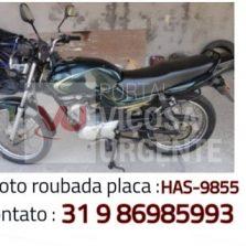 Motocicleta é furtada na avenida Santa Rita