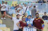 Argentinos fazem festa, mas não intimidam venezuelanos no Maracanã