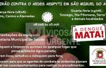 São Miguel do Anta: Mobilização vai acontecer nos dias 18 e 19/06 na área urbana do município