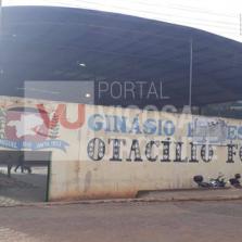 SÃO MIGUEL DO ANTA: COMEÇA A REFORMA DO GINÁSIO POLIESPORTIVO OTACÍLIO FONSECA