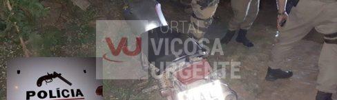 Nova Viçosa: Perseguição policial, tombo, arma e suspeito preso