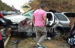 Ponte Nova: Pai morre e crianças ficam feridas em acidente