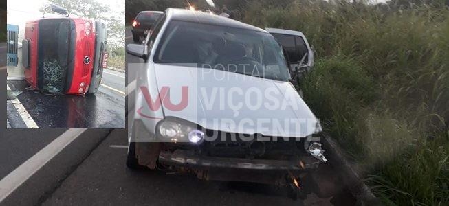 Viçosense sofre acidente na BR356 em Itaperuna