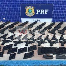 PRF apreende arsenal de armas em Juiz de Fora