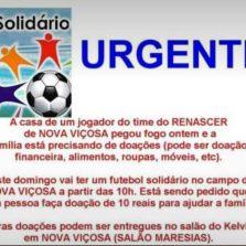Futebol solidário será no próximo domingo