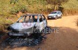 Carro furtado em Porto Firme é queimado em Viçosa