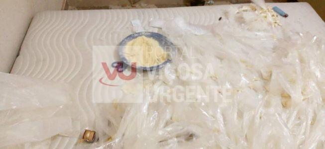 PM realiza grande apreensão de drogas na cidade em Muriaé