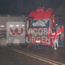 Acidente na rodovia Viçosa/Teixeiras deixa três feridos