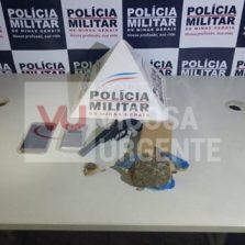 Urucânia: Suspeito de roubo de moto é preso com arma e droga