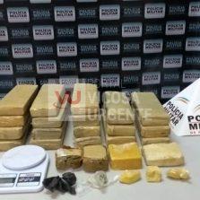 Polícia apreende em Carangola droga comprada em Viçosa