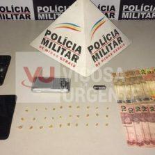 Ponte Nova: Triangulo Suspeitos de tráfico de drogas são detidos pela PM