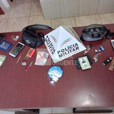 Presidente Bernardes: PM prende suspeitos de tráfico de drogas