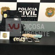 Além Paraíba: Operação da PC prende mulher suspeita de tráfico de drogas