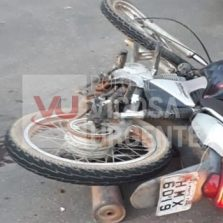 Duas motos: Colisão na rodovia Porto Firme/Piranga deixa três feridos