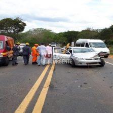 Acidente grave ocorrido na rodovia Viçosa/Teixeras.