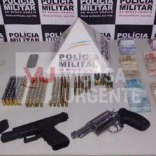 Polícia Militar faz apreensão de armas com alto poder de fogo em Ponte Nova