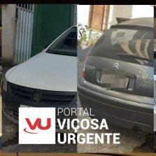 Viçosa/VRB: Suspeitos são presos com carros roubados, armas e celulares