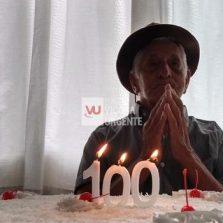 Idoso do Lar dos Velhinhos comemora 100 anos