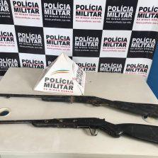 Ponte Nova: Polícia Militar recupera motocicleta furtada e apreende duas armas de fogo