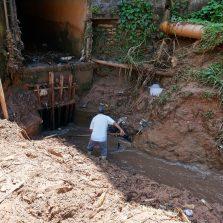 Limpeza dos ribeirões ameniza consequências das chuvas em Viçosa