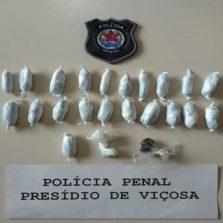 Polícia penal flagra detento com drogas no presídio de Viçosa