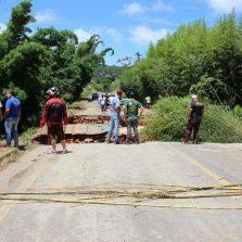 Rodovia Coimbra Ervália permanece interditada, veja a melhor rota.
