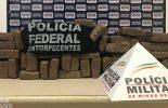 PF prende homens por tráfico e apreende 70 kg de maconha em Ponte Nova