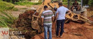 Viçosa, recuperação de estradas rurais continuam sem interrupção
