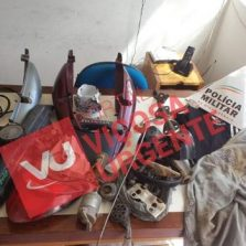 Polícia Militar de Canaã localiza peças de moto roubada e identifica autor