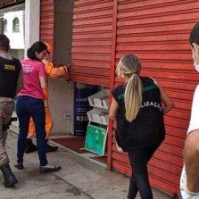 Setor de fiscalização fecha estabelecimentos que descumpriram decreto