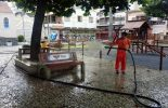 Força-tarefa atua na limpeza de ruas de Viçosa