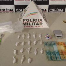 PM prende suspeito de tráfico de drogas em Ponte Nova