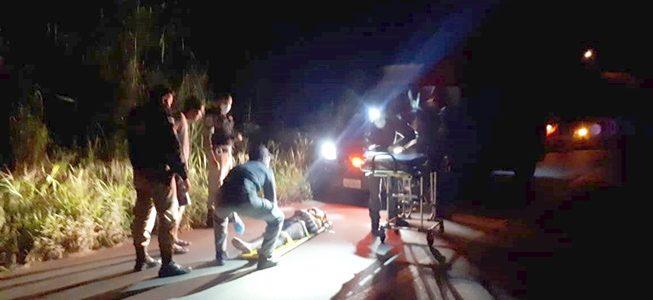 Mulher fica gravemente ferida após atropelamento próximo do Acamari