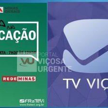 TV Viçosa começa a transmitir as aulas da rede estadual nesta segunda-feira (18)