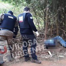Homem assassinado a tiros na zona rural de Coimbra na divisa com Viçosa