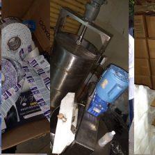 Ação conjunta localiza fábrica clandestina de álcool em Ervália