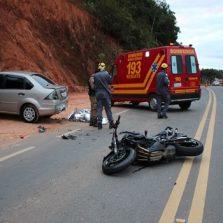 Motoqueiro morre em acidente grave na rodovia que liga Teixeiras/Viçosa