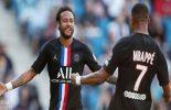 Com dois do brasileiro Neymar, PSG faz nove no Le Havre