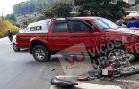 Duas pessoas feridas numa colisão entre carro e moto em Teixeiras