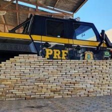 PRF faz apreensão de drogas e causa prejuízo de mais de 53 milhões de reais ao narcotráfico